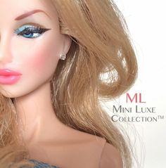 Doll Jewelry - Swarovski Crystal Stud Earrings - Fashion Royalty dolls, Poppy Parker, Barbie dolls, and Silkstone Barbie