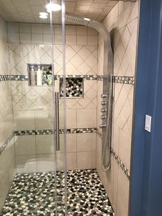 Shower Pebble Tile And Stone Ideas