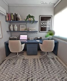 35 Amazing Farmhouse Desk For The Home Office - Furniture, Home Office Desks, Home Office Decor, Home Office Furniture, Home, Farmhouse Desk, Office Interiors, Trendy Home, Office Design