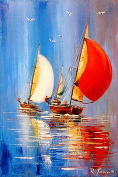 What is Your Painting Style? How do you find your own painting style? What is your painting style? Is there a way to make sure you have it? Seascape Paintings, Landscape Paintings, Oil Painting App, Sailboat Painting, Boat Art, Abstract Painters, Acrylic Art, Watercolor Paintings, Sailboats