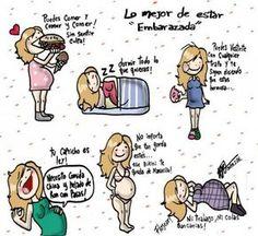 Humor gráfico - Lo mejor de estar embarazada