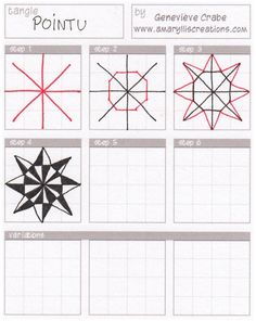Zentangle step by step. I need to make these!!