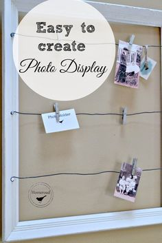 Make this easy DIY photo display via homeroad.net