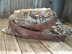 Justin Boots Vintage Caramel Brown Lizard Skin Western Belt by PoisonPuddingFaire on Etsy