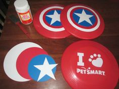 15 Captain America: Civil War Party Ideas -Captain America shield Frisbee, party games