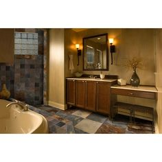 MS International Three Rivers Gold 12 in. x 12 in. Gauged Slate Floor and Wall Tile (10 sq. ft. / case)-STRIVGLD1212 at The Home Depot