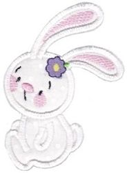 Snuggle Bunny Applique 12 - 3 Sizes! | What's New | Machine Embroidery Designs | SWAKembroidery.com Bunnycup Embroidery
