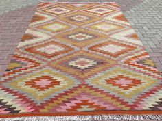 PERFECT CONDITION - READY FOR USE<br/><br/>ANATOLIAN TURKISH SOUTHERN OF ANATOLIA FROM ANTALYA CLASSIC NOMADS KELIM, AREA RUG KILIM, KILIM RUG, RUG RUGS CARPET (st12837). TRADITIONAL DAIMOND PATTERN OF ANTALYA NOMADS. ORIGINALLY CHANGE OF THE COLORS, ABOUT 60 YEARS OLD. | eBay!
