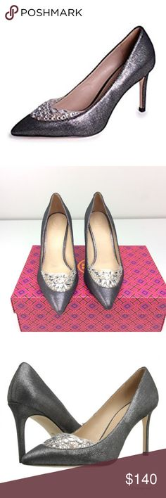 465a41a1a38 Tory Burch Delphine 85mm Pump in Pewter