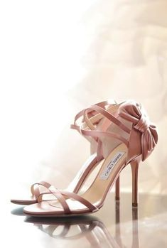Jimmy Cho rose gold shoes