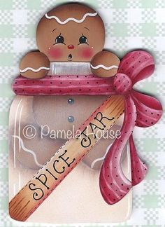 The Decorative Painting Store: Spice Jar Ginger Pattern, Gingerbread