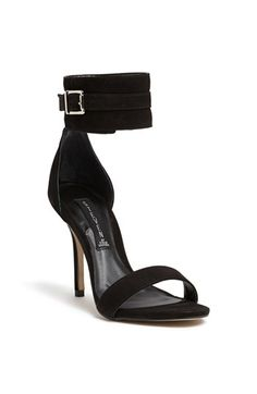 A bold, buckle-embellished ankle strap amplifies the edgy attitude of a high-heeled sandal. Color(s): black nubuck. Brand: Steven by Steve Madden. Style Name: Steven by Steve Madden 'Mauryce' Sandal. Style Number: 976538. $128.95 by nordstrom