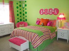 Lena wants a Polka Dot wall :)
