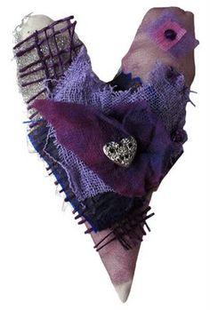 Fabric, Heart, Textiles