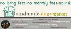 Handmadeology- super great etsy info from- main point to come back to here: discusses how to make a website to go to etsy/etsy to website