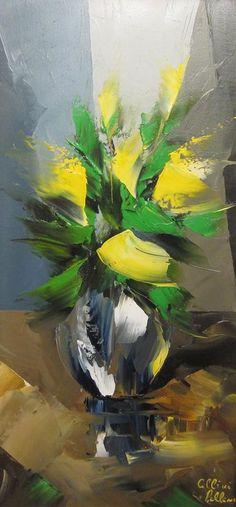 Канадский художник Albini Leblanc. Миниатюры мастихином. Вторая. Масло 20х10