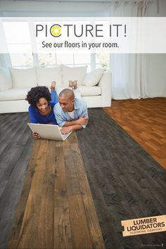 See all of our options in a snap with our floor visualizer tool, Picture It! Flooring 101, Flooring Options, Flooring Ideas, Rental Makeover, Contemporary Beach House, Shabby Chic Kitchen Decor, Quilting Room, Diy House Projects, Beach House Decor
