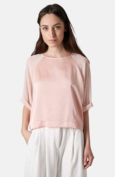 Topshop Mixed Media Tee available at #Nordstrom