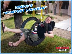 "painted+tire+swings | How to Make a Tire Swing: Travis's ""Comfort Lounger"""