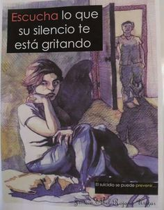 Cartel prevención del Suicidio. Ganadora del Primer lugar 2014
