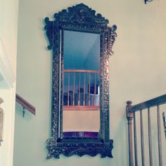 Hey, I found this really awesome Etsy listing at https://www.etsy.com/listing/202984949/vintage-brass-hallway-entry-mirror