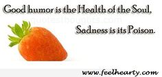 Good humor is the Health of the Soul , sadness is its poison.