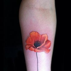 Punchy Poppy // Flower Tattoo Ideas That Are So Much Better Than a Bouquet