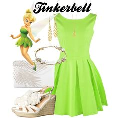 Tinkerbell. Summer by dixiepixie on Polyvore featuring H&M, Henri Bendel, Shaun Leane, Paloma Picasso, Tiffany & Co. and Fathead