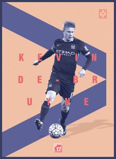 Kevin De bruyne Football Design Football Awards, Football Soccer, Football Design, Sport Design, Sports Graphics, English Premier League, Football Wallpaper, Level Up, Manchester City