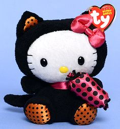 Hello Kitty (black cat costume) - cat - Ty Beanie Babies