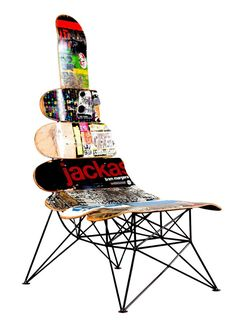 upcycled skateboard - useful art