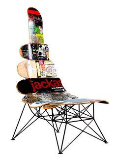 upcycled skateboard - useful art