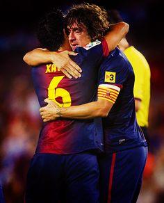 Xavi Hernandez and Carles Puyol, FC Barcelona.