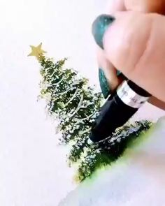 Tree Watercolor Painting, Watercolor Cards, Painting & Drawing, Drawing Trees, Watercolor Art Lessons, Liquid Watercolor, Watercolour Tutorials, Artist Painting, Watercolor Flowers