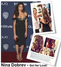 Emma Roberts & Nina Dobrev Golden Globes 2014 - UNITE How-To's