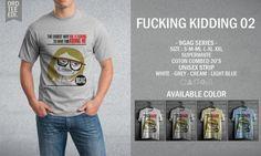 Kaos Distro Fucking Kidding – 9GAG Series - PulauBelanja.Com