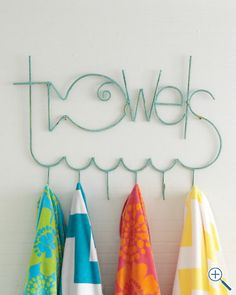 Fish towel rack - you can at least pretend you're at the beach!