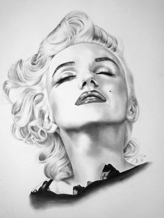 Portrait of Marilyn Monroe by on Stars Portraits - 12 Arte Marilyn Monroe, Marilyn Monroe Wallpaper, Marilyn Monroe Drawing, Marilyn Monroe Tattoo, Marilyn Monroe Photos, Pin Up Retro, Gothic Fantasy Art, Star Art, Pencil Art Drawings