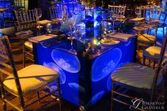 Jelly Fish Table Rectangular Glass