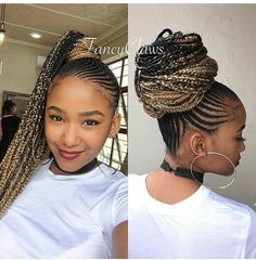 Best 2019 Braided Hairstyles : Braiding, Box Braids, Cornrows and Weaves For You Beste 2019 Geflocht Sporty Hairstyles, Try On Hairstyles, African Braids Hairstyles, Weave Hairstyles, Hairstyles Videos, Creative Hairstyles, Blonde Box Braids, Braids For Short Hair, Long Hair