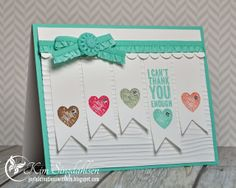 Can't Thank You Enough from Joyful Creations with Kim.  Uses colors from Fab Friday and the sketch from Nacho Average Challenge.