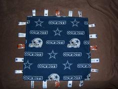 Dallas Cowboys taggie blanket