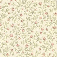 La Belle Maison Jardin Rosebud Trail Rosewood Wallpaper 302-66807