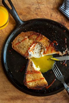 NYT Cooking: Unsalted butter, a thick slice of really good white or whole wheat country bread, and a sunflower-yellow, pastured egg is all you need for this utterly perfect meal.