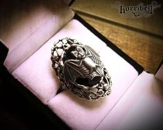 Gothic Ring - Bat Ring - Victorian Ring - Adjustable - Bat Jewelry by horribell on Etsy https://www.etsy.com/listing/200450956/gothic-ring-bat-ring-victorian-ring