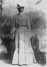 Mary Elizabeth Bowser (c. 1839-unknown) was a freed slave who worked with Elizabeth Van Lew as a Union spy in Richmond, Virginia during the Civil War. Van Lew sent Mary to the Quaker School for Negroes in Philadelphia in the late 1850s. After graduating, Mary returned to Richmond and continued to work in the Van Lew house. Bowser worked as a domestic servant for Confederate President Jefferson Davis and read documents that were left out in the president's private study, memorizing every word