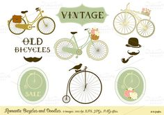 Check out Romantic Bicycles & Doodles by Delagrafica on Creative Market