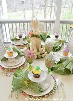 A Spring Table Setting with the Easter Bunny | Pinterest | Easter ...