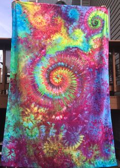 Tie Dye Tapestry Psychedelic Trippy Hippie Hippy Boho Music Festival Beach Blanket Bedding Flat Sheet Wall Hanging RighteousDyes #RighteousDyes Etsy