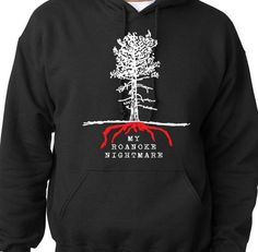 A great hoodie for one of the hottest shows on tv. American Horror Story black hoodie features the official logo for Season 6: My Roanoke Nightmare. Get yours and show your AHS pride.